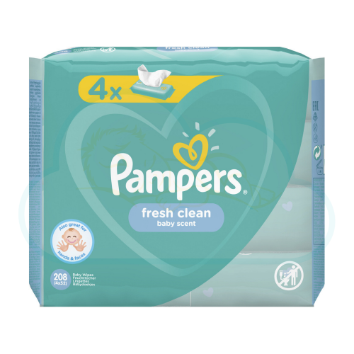 LINGETTES PAMPERS BABY FRESH CLEAN 4x52