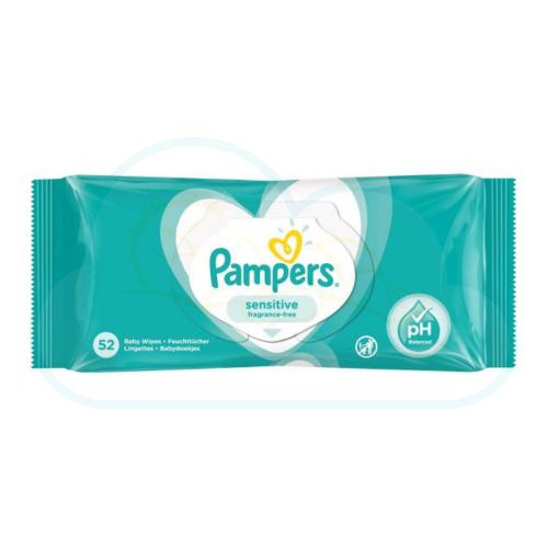 LINGETTES PAMPERS SENSITIVE 52