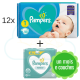 516 couches PAMPERS NEW BABY taille 1 + 4x52 PAMPERS SENSITIVE
