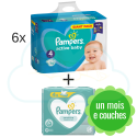 456 COUCHES PAMPERS ACTIVE BABY taille 4 + 4x52 PAMPERS SENSITIVE