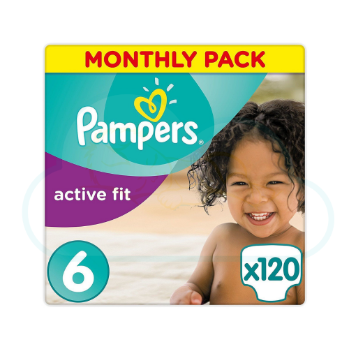 120 COUCHES PAMPERS ACTIVE FIT taille 6