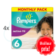 480 COUCHES PAMPERS ACTIVE FIT taille 6