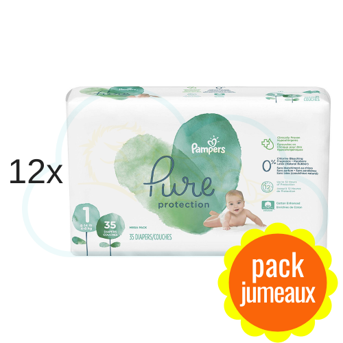 420 COUCHES PAMPERS PURE PROTECTION taille 1