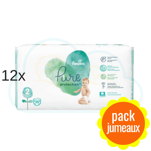 468 COUCHES PAMPERS PURE PROTECTION taille 2
