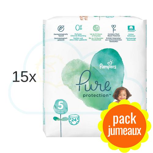 360 COUCHES PAMPERS PURE PROTECTION taille 5