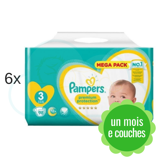 588 COUCHES PAMPERS PREMIUM PROTECTION taille 3
