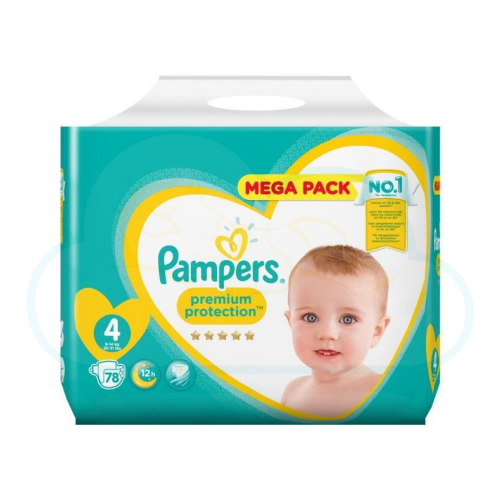 78 COUCHES PAMPERS PREMIUM PROTECTION taille 4