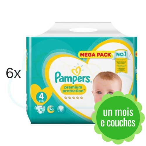 468 COUCHES PAMPERS PREMIUM PROTECTION taille 4