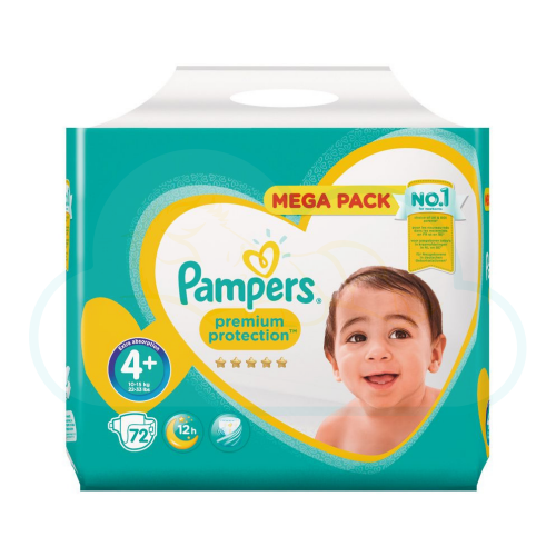 72 COUCHES PAMPERS PREMIUM PROTECTION taille 4+