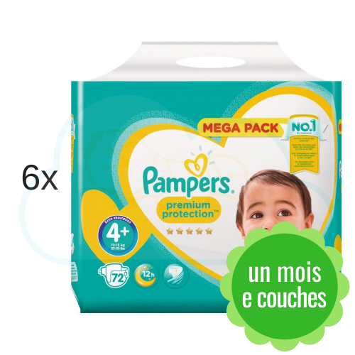 432 COUCHES PAMPERS PREMIUM PROTECTION taille 4+
