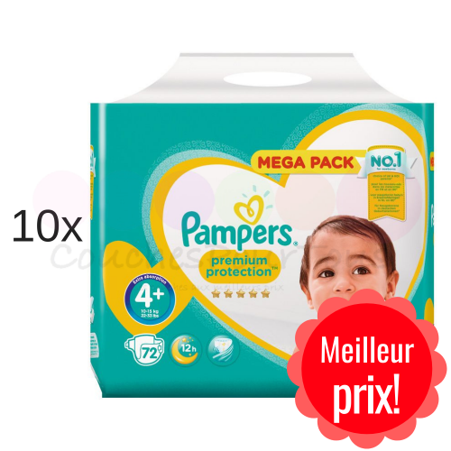 720 COUCHES PAMPERS PREMIUM PROTECTION taille 4+