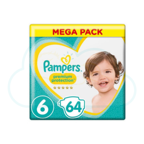64 COUCHES PAMPERS PREMIUM PROTECTION taille 6