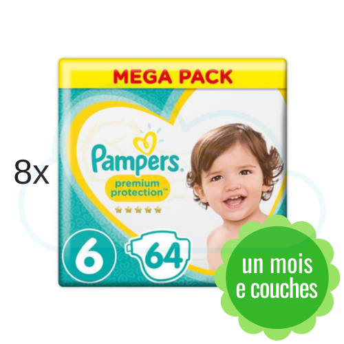 512 COUCHES PAMPERS PREMIUM PROTECTION taille 6