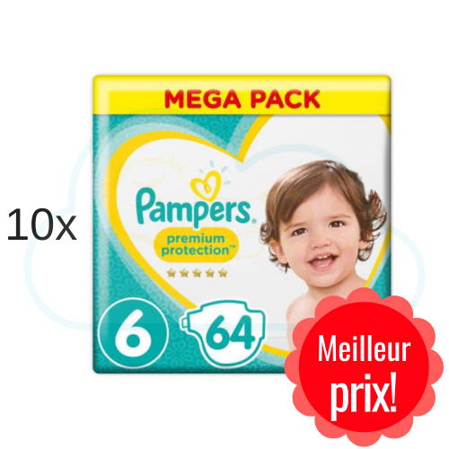 640 COUCHES PAMPERS PREMIUM PROTECTION taille 6