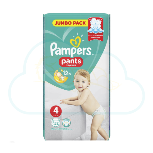 52 COUCHES-CULOTTES PAMPERS PANTS taille 4