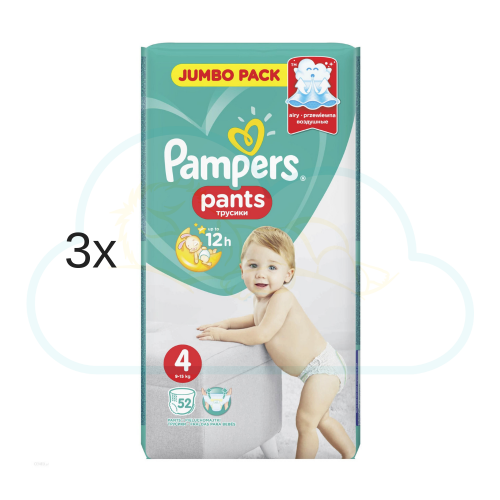 156 COUCHES-CULOTTES PAMPERS PANTS taille 4
