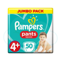 50 COUCHES-CULOTTES PAMPERS PANTS taille 4+