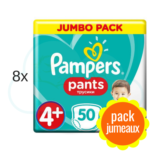 400 COUCHES-CULOTTES PAMPERS PANTS taille 4+