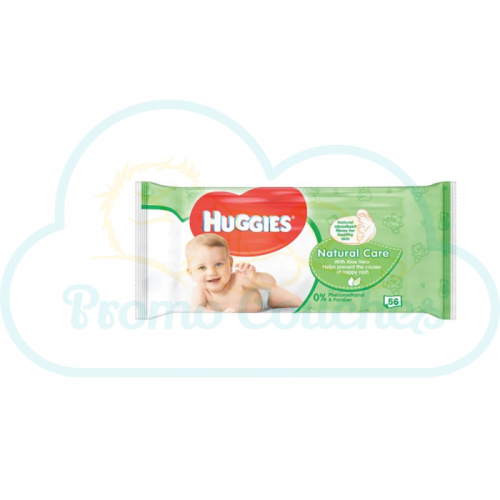 LINGETTES HUGGIES NATURAL CARE 56