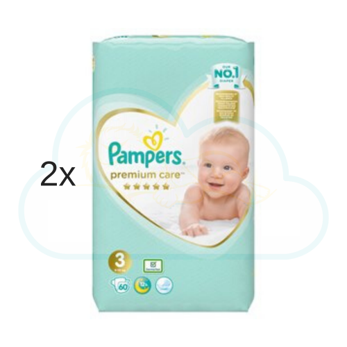 120 COUCHES PAMPERS PREMIUM CARE taille 3