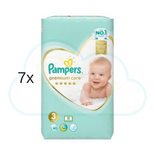 420 COUCHES PAMPERS PREMIUM CARE (SENSITIVE) taille 3