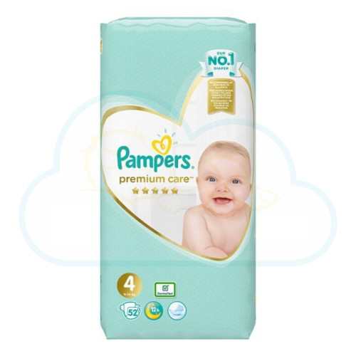 52 COUCHES PAMPERS PREMIUM CARE taille 4