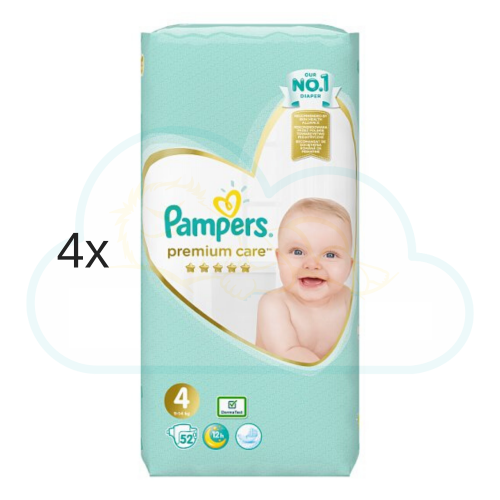 208 COUCHES PAMPERS PREMIUM CARE taille 4