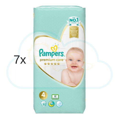 364 COUCHES PAMPERS PREMIUM CARE (SENSITIVE) taille 4