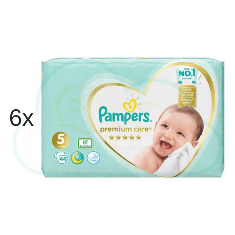 264 COUCHES PAMPERS PREMIUM CARE taille 5