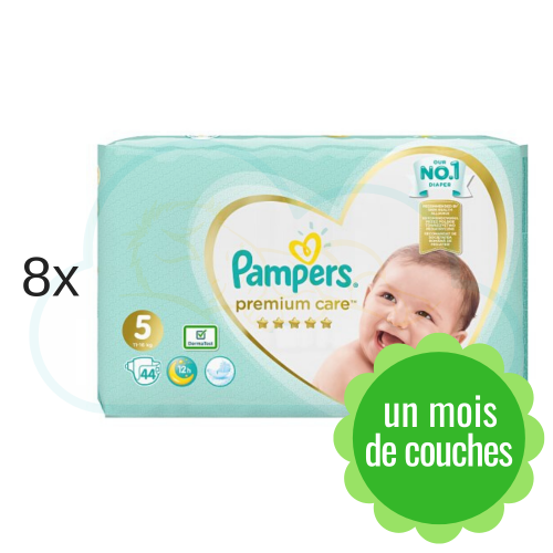 352 COUCHES PAMPERS PREMIUM CARE (SENSITIVE) taille 5