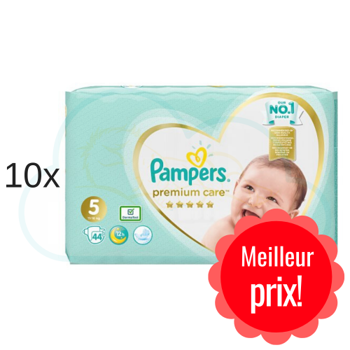 440 COUCHES PAMPERS PREMIUM CARE taille 5