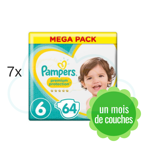 448 COUCHES PAMPERS PREMIUM PROTECTION taille 6