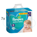 448 COUCHES PAMPERS ACTIVE BABY taille 5