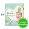 304 COUCHES PAMPERS PREMIUM CARE taille 6