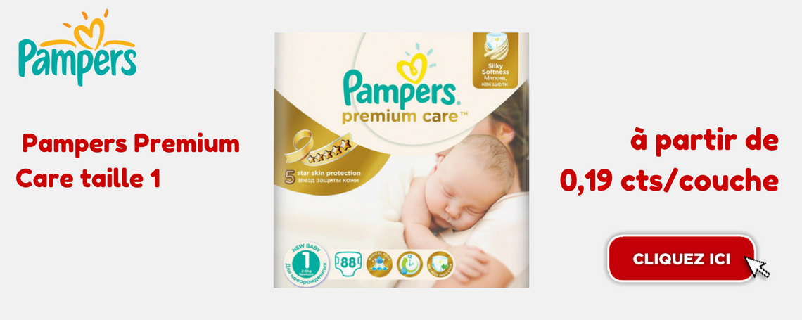 Pampers Premium Care taille 1 promotion